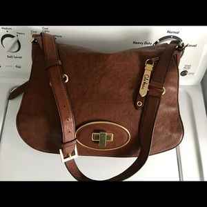 Great COLE HAAN Brown Leather CrossBody Bag